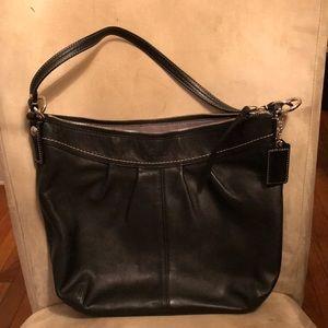 Coach Soho Pleated Leather Bag, XL Black